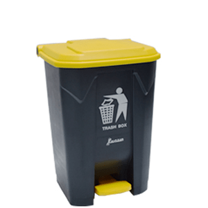 Plastic_Pedal_Bin_With_Yellow_Lid